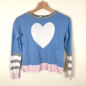 GAP Girls Blue Pink and Blue Heart Sweater - 10